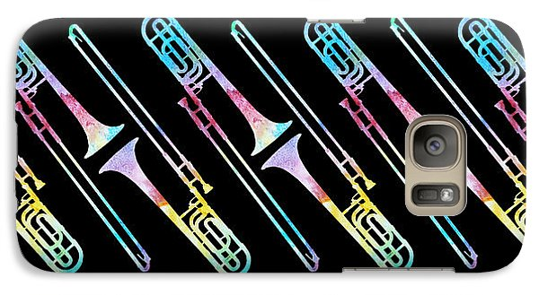 Trombone Galaxy S7 Case - Colorwashed Trombones by Jenny Armitage