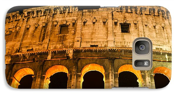 Galaxy Case featuring the photograph Colosseum At Night by Rob Tullis