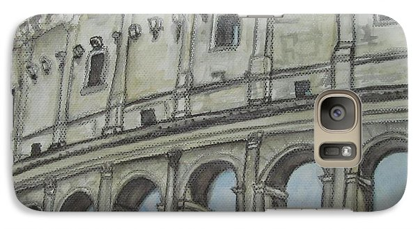 Galaxy Case featuring the painting Colosseum Rome Italy by Malinda  Prudhomme