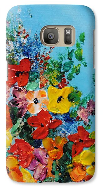 Galaxy Case featuring the painting Colour Of Spring by Teresa Wegrzyn