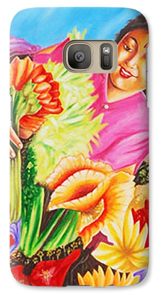 Galaxy Case featuring the painting Colours Of Love - Hues Of Life by Ragunath Venkatraman