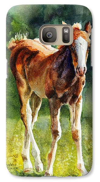 Galaxy Case featuring the painting Colt In Green Pastures by Bonnie Rinier
