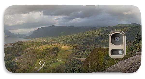 Galaxy Case featuring the photograph Columbia River Gorge View From Crown Point by JPLDesigns