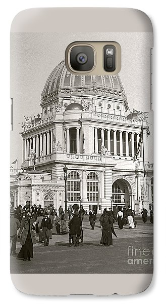 Galaxy Case featuring the photograph Columbian Exposition Chocolat 1893 by Martin Konopacki Restoration