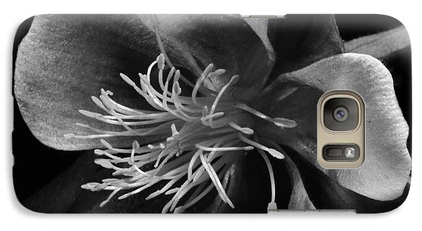 Galaxy Case featuring the photograph Columbine In Black And White by Karen Slagle