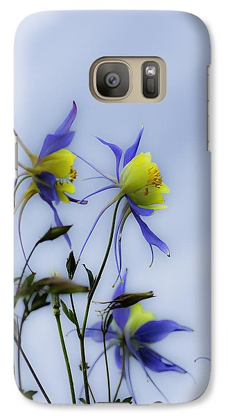 Galaxy Case featuring the photograph Columbines by Peter v Quenter
