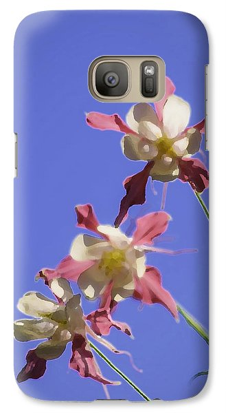 Galaxy Case featuring the photograph Columbines by Sherri Meyer