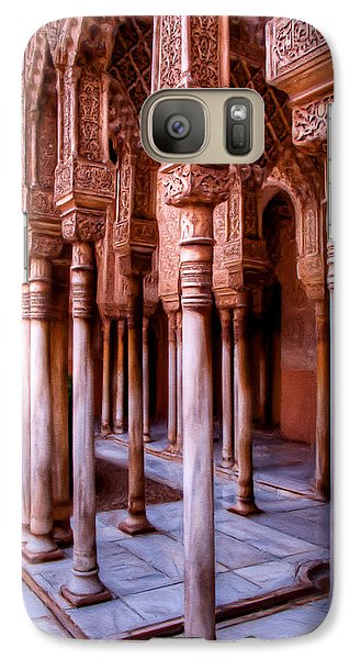 Columns Of The Court Of The Lions - Painting Galaxy S7 Case