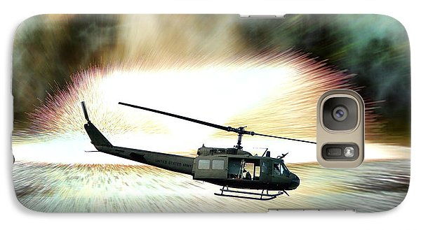 Helicopter Galaxy S7 Case - Combat Helicopter by Olivier Le Queinec