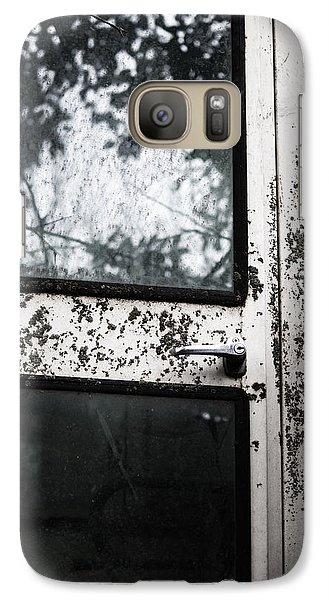 Galaxy Case featuring the photograph Combine Reflection by Rebecca Davis