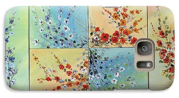 Galaxy Case featuring the painting Combo Flowers by Dorothy Maier