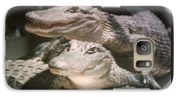 Galaxy Case featuring the photograph Florida Alligators Come Closer by Belinda Lee