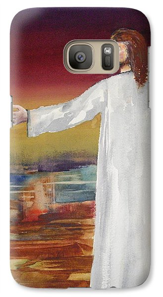 Galaxy Case featuring the painting Come Follow Me by Ellen Canfield