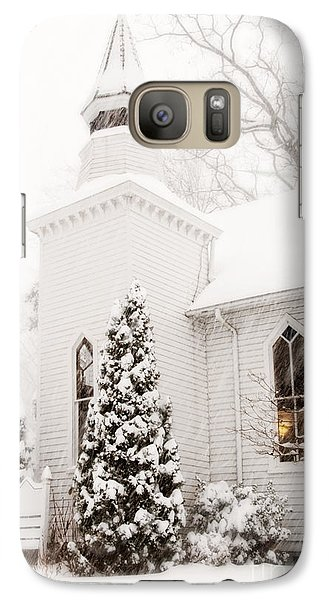 Galaxy Case featuring the photograph White Christmas In Maryland Usa by Vizual Studio