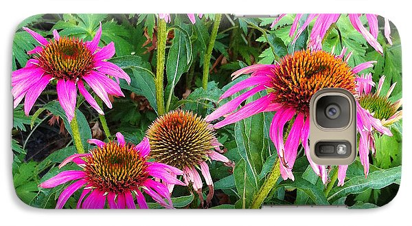 Galaxy Case featuring the photograph Comely Coneflowers by Meghan at FireBonnet Art