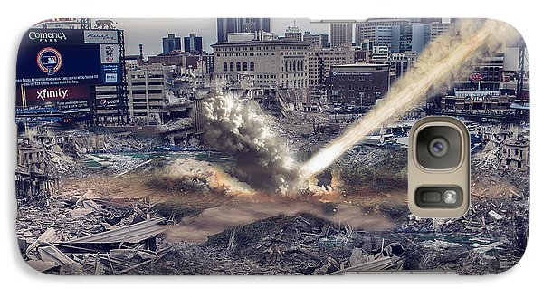 Galaxy Case featuring the photograph Comerica Park Asteroid by Nicholas  Grunas