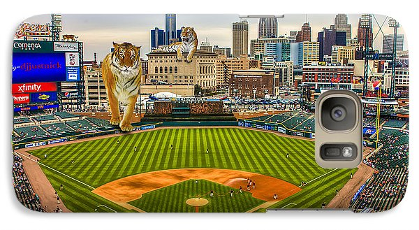 Galaxy Case featuring the photograph Comerica Park Detroit Mi With The Tigers by Nicholas  Grunas