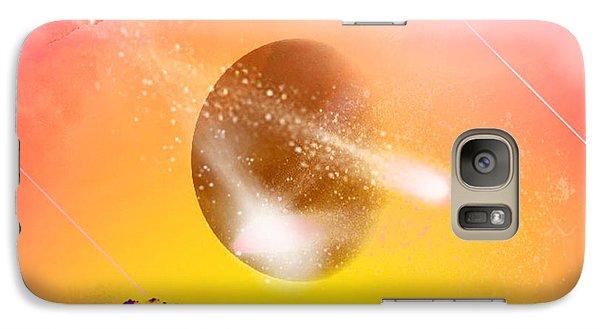 Galaxy Case featuring the digital art Comet by Ute Posegga-Rudel