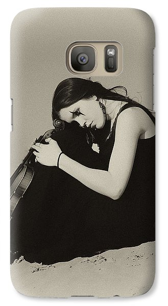 Violin Galaxy S7 Case - Comfort In The Desert by Gun Legler