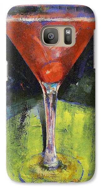Comfortable Cherry Martini Galaxy Case by Michael Creese