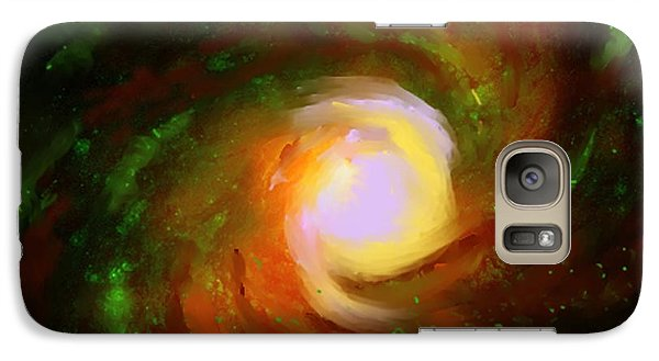 Galaxy Case featuring the digital art Comic Spiral by P Dwain Morris