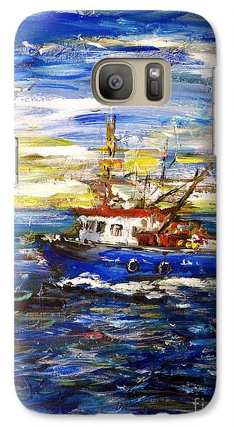 Galaxy Case featuring the painting Coming Back by Arturas Slapsys