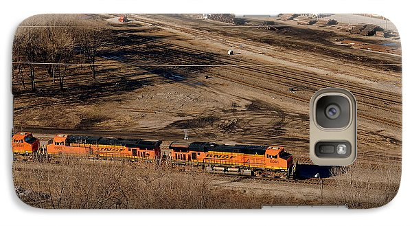 Galaxy Case featuring the photograph Coming From The Train Yard by Karen Kersey