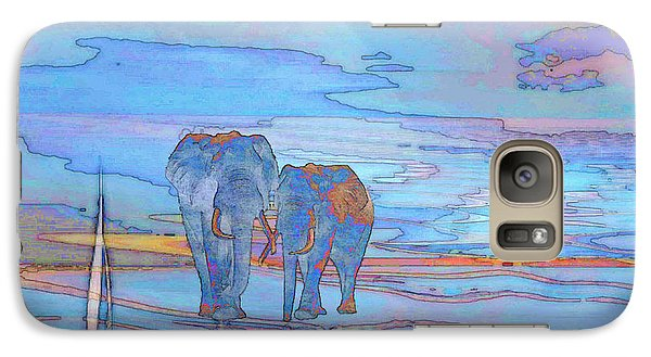 Galaxy Case featuring the digital art Coming Home From Sea by Mojo Mendiola