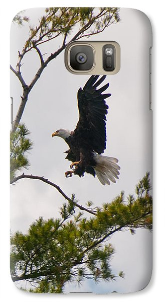 Galaxy Case featuring the photograph Coming In For A Landing by Brenda Jacobs