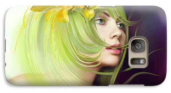 Galaxy Case featuring the drawing Coming Of Spring by Anna Ewa Miarczynska