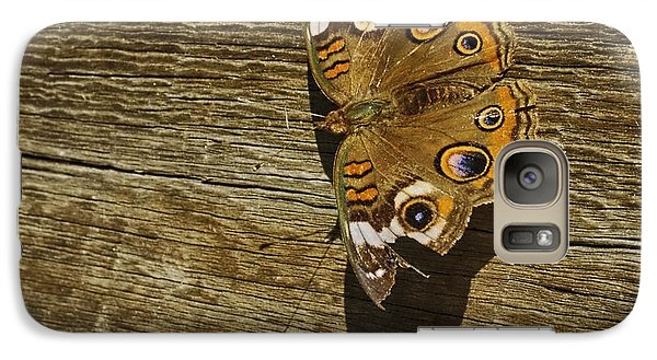 Galaxy Case featuring the photograph Common Buckeye With Torn Wing by Lynn Palmer