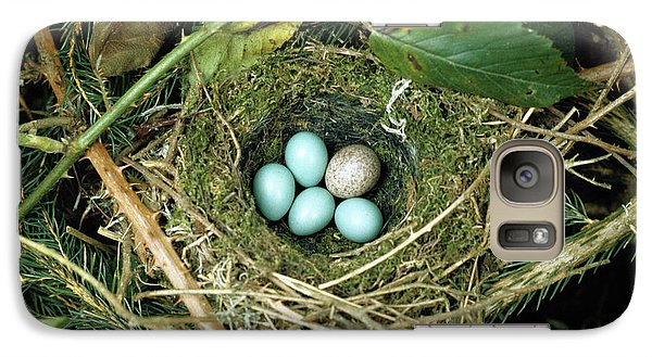 Common Cuckoo Cuculus Canorus Egg Laid Galaxy S7 Case by Jean Hall
