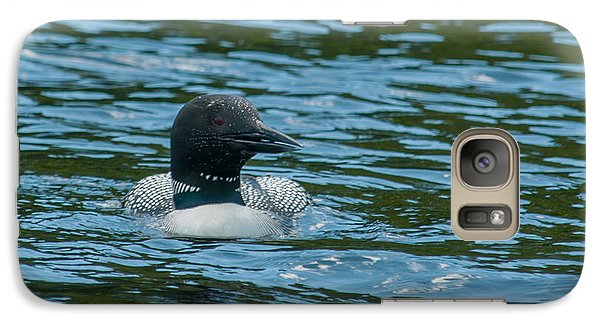 Galaxy Case featuring the photograph Common Loon by Brenda Jacobs