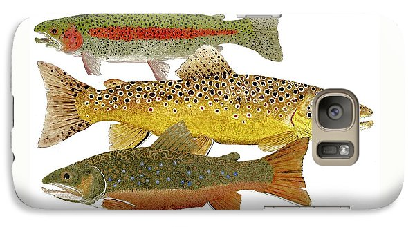 Galaxy Case featuring the painting Common Trout  Rainbow Brown And Brook by Thom Glace
