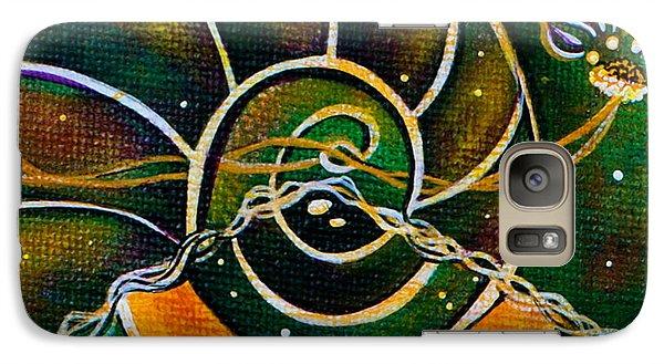 Galaxy Case featuring the painting Communicator Spirit Eye by Deborha Kerr