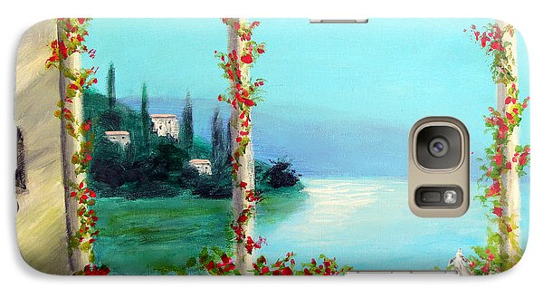 Galaxy Case featuring the painting Como Italy by Larry Cirigliano