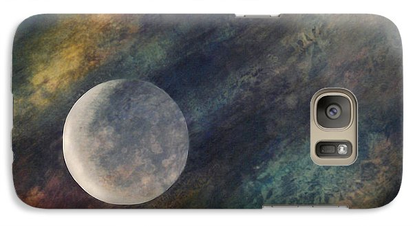 Galaxy Case featuring the painting Companion Moon  by Ursula Freer