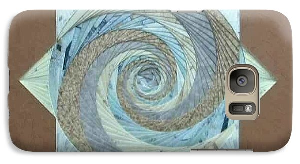 Galaxy Case featuring the mixed media Compass Headings by Ron Davidson