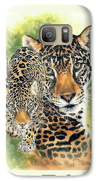 Galaxy Case featuring the mixed media Compelling by Barbara Keith