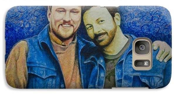 Galaxy Case featuring the painting Complete_portrait Of Craig And Ron by Ron Richard Baviello