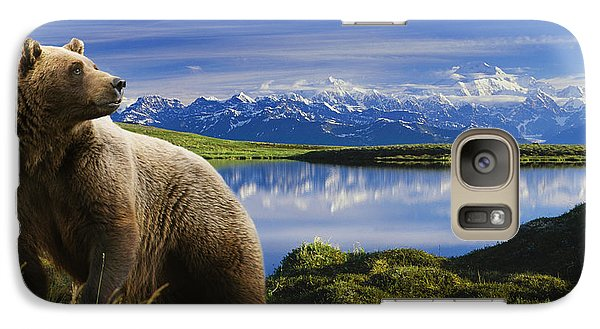 Composite Grizzly Stands In Front Of Galaxy S7 Case by Michael Jones