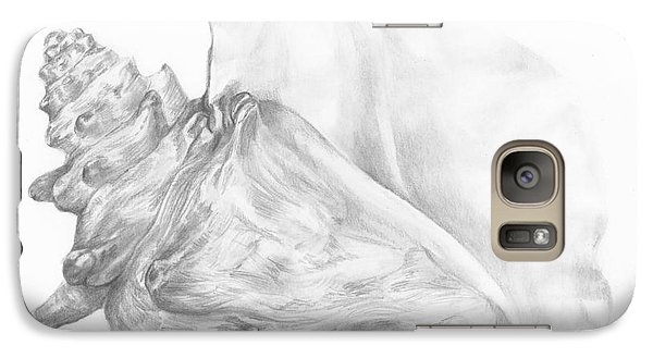 Galaxy Case featuring the drawing Conch Study by Meagan  Visser