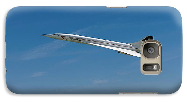 Galaxy Case featuring the digital art Concorde At Harvest Time by Paul Gulliver