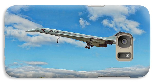 Galaxy Case featuring the digital art Concorde On Finals by Paul Gulliver