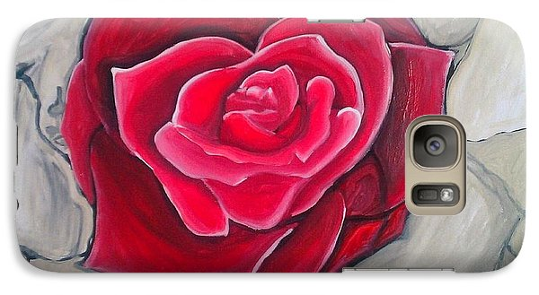 Galaxy Case featuring the painting Concrete Rose by Marisela Mungia