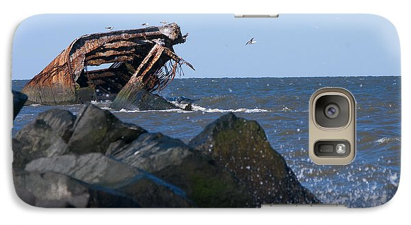 Galaxy Case featuring the photograph Concrete Ship by Greg Graham