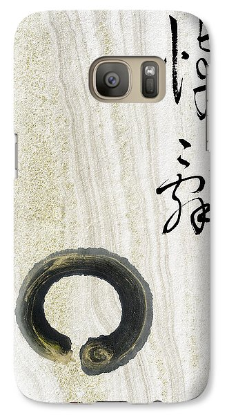 Galaxy Case featuring the mixed media Condolences Tooji With Enso Zencircle by Peter v Quenter