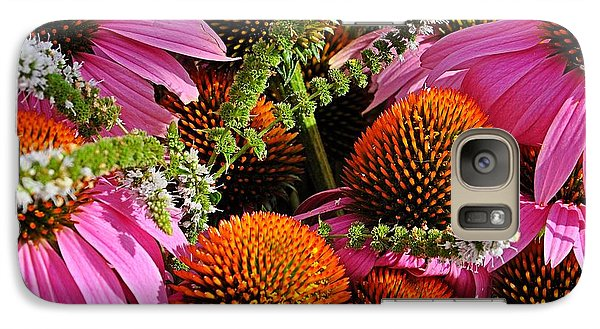 Cone Flowers And Mint Galaxy S7 Case