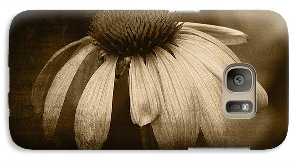 Galaxy Case featuring the photograph Coneflower In Sepia by Marjorie Imbeau
