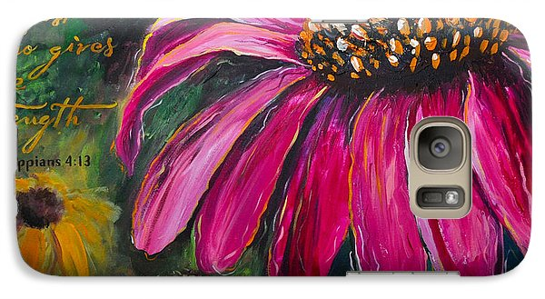 Galaxy Case featuring the painting Coneflower by Lisa Fiedler Jaworski